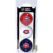 Team Golf Montreal Canadiens Three Pack Golf Ball Set