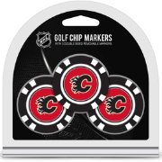 Team Golf Calgary Flames Poker Chips Ball Markers - 3-Pack