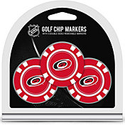 Team Golf Carolina Hurricanes Poker Chips Ball Markers - 3-Pack