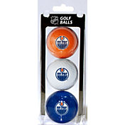 Team Golf Edmonton Oilers Three Pack Golf Ball Set