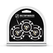 Team Golf Pittsburgh Penguins Poker Chips Ball Markers - 3-Pack