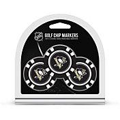 Team Golf Pittsburgh Penguins Poker Chips Ball Markers - 3-Pack