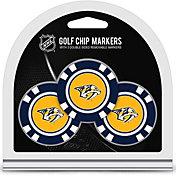 Team Golf Nashville Predators Poker Chips Ball Markers - 3-Pack