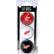 Team Golf Detroit Red Wings Three Pack Golf Ball Set