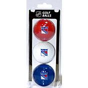 Team Golf New York Rangers Three Pack Golf Ball Set