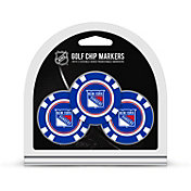 Team Golf New York Rangers Poker Chips Ball Markers - 3-Pack