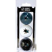 Team Golf San Jose Sharks Three Pack Golf Ball Set