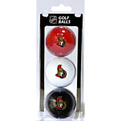 Team Golf Ottawa Senators Three Pack Golf Ball Set