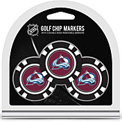 Team Golf Colorado Avalanche Poker Chips Ball Markers - 3-Pack