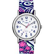 Timex Women's Weekender Reversible Floral Watch
