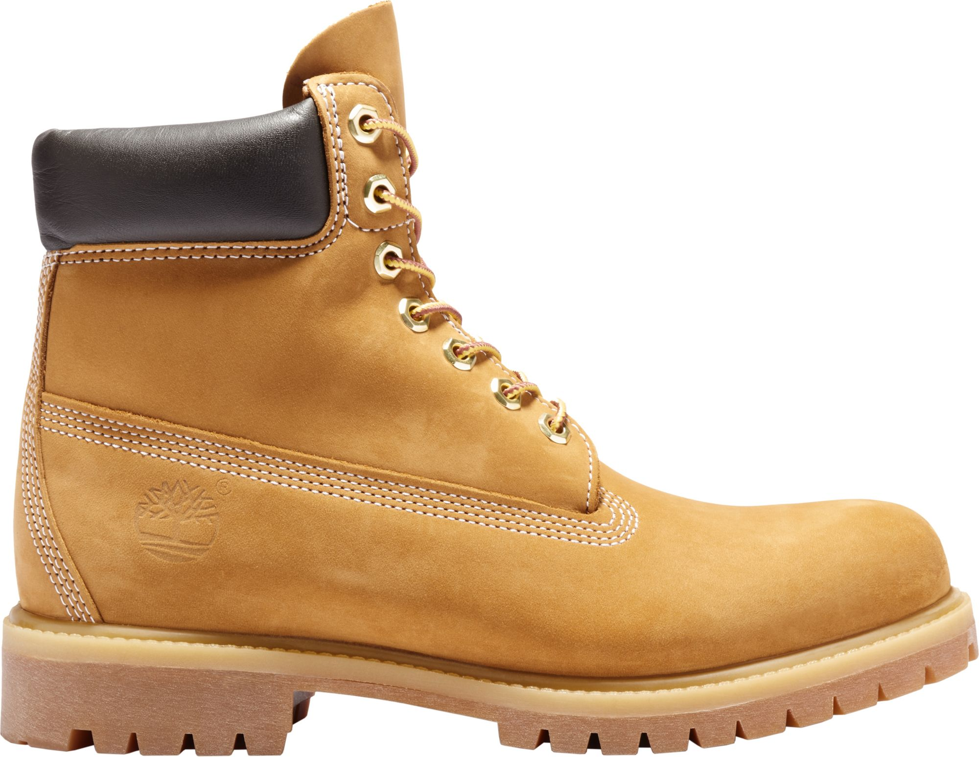 Timberland Mens 6 inch Premium Leather Boots Mens Footwear Shop Mens Footwear COLOUR-wheat