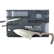 Tool Logic Survival Card with Fire Starter & Flashlight