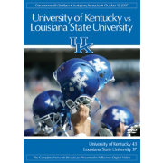 2007 Kentucky vs. LSU Game DVD