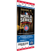 2016 World Series Champions Chicago Cubs Game 4 Mega Ticket