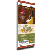 That's My Ticket St. Louis Cardinals 2011 World Series Canvas Mega Ticket