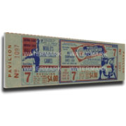 That's My Ticket St. Louis Cardinals 1964 World Series Canvas Mega Ticket