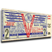 That's My Ticket St. Louis Cardinals 1942 World Series Canvas Mega Ticket