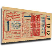 That's My Ticket St. Louis Cardinals 1944 World Series Canvas Mega Ticket
