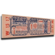 That's My Ticket St. Louis Cardinals 1946 World Series Canvas Mega Ticket