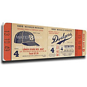 That's My Ticket Brooklyn Dodgers 1955 World Series Canvas Mega Ticket