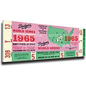 That's My Ticket Dodgers 1965 World Series Canvas Mega Ticket
