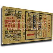 That's My Ticket New York Giants 1933 World Series Canvas Mega Ticket