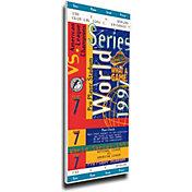 That's My Ticket Florida Marlins 1997 World Series Canvas Mega Ticket