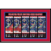 That's My Ticket Philadelphia Phillies 2008 World Series Framed Printed Ticket Collection