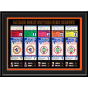 That's My Ticket Baltmore Orioles 1983 World Series Framed Printed Ticket Collection