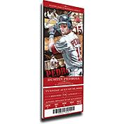 That's My Ticket Boston Red Sox Dustin Pedroia Debut Game Mega Ticket