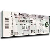 That's My Ticket Oakland Athletics 2002 20 Consecutive Wins Mega Ticket