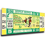That's My Ticket Oakland Athletics 1972 World Series Canvas Mega Ticket