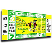 That's My Ticket A's 1973 World Series Canvas Mega Ticket