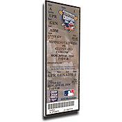 That's My Ticket Minnesota Twins Joe Mauer Authentic Debut Game Mega Ticket
