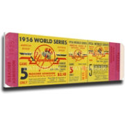 That's My Ticket New York Yankees 1956 World Series Canvas Mega Ticket