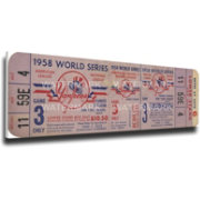 That's My New York Yankees 1958 World Series Canvas Mega Ticket