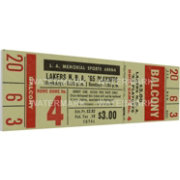 That's My Ticket Boston Celtics 1965 NBA Championship Canvas Ticket