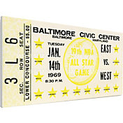 That's My Ticket 1969 NBA All-Star Game Canvas Ticket