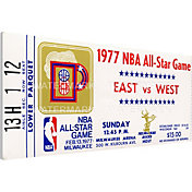 That's My Ticket 1977 NBA All-Star Game Canvas Ticket