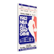 That's My Ticket 1982 NBA All-Star Game Canvas Ticket