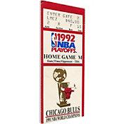 That's My Ticket Chicago Bulls 1992 NBA Finals Game 6 Canvas Ticket