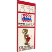 That's My Ticket Chicago Bulls 1992 NBA Finals Game 6 Canvas Ticket