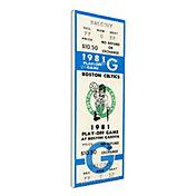 That's My Ticket Boston Celtics 1981 NBA Championship Canvas Ticket