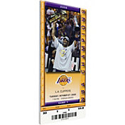 That's My Ticket Los Angeles Lakers 2009 Banner Raising Ceremony Canvas Ticket