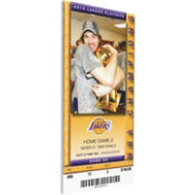 That's My Ticket Los Angeles Lakers 2010 NBA Finals Game 2 Canvas Ticket