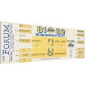 That's My Ticket Los Angeles Lakers 1982 NBA Championship Canvas Ticket