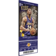 That's My Ticket Los Angeles Lakers Kobe Bryant 81 Point Game Artist Series Canvas Ticket