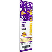 That's My Ticket Los Angeles Lakers Kobe Bryant 81 Point Game Canvas Ticket