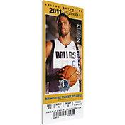 That's My Ticket Dallas Mavericks 2011 NBA Finals Game 4 Canvas Ticket