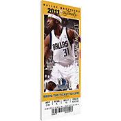 That's My Ticket Dallas Mavericks 2011 NBA Finals Game 3 Canvas Ticket
